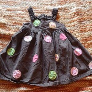 Gymboree 6 12 month polkadot dress baby girls